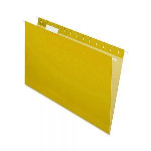 carpeta colgante amarilla