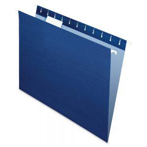 carpeta colgante azul