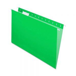 carpeta colgante verde