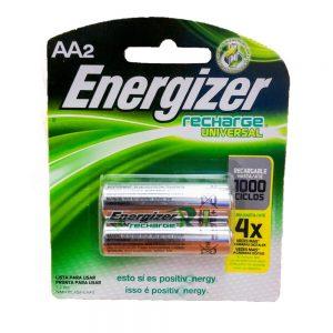 pila energizer recargable aa x 2