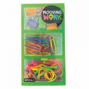 kit mooving 3 en 1 clips binder bandas