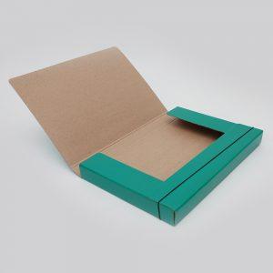 caja archivo con elastico oficio uo 6cm verde