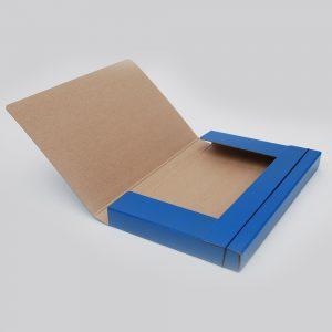 caja archivo con elastico oficio uo 6cm azul