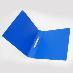 carpeta forrada oficio 2x40 uo azul
