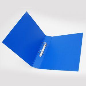 carpeta forrada a4 2x40 uo azul