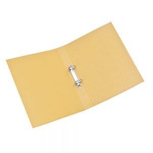 carpeta forrada a4 2x40 uo amarillo