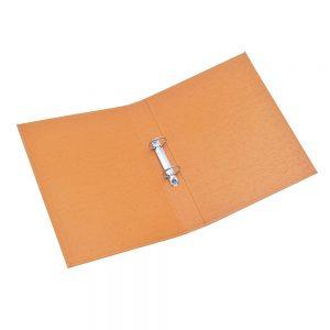 carpeta forrada oficio 2x40 uo naranja