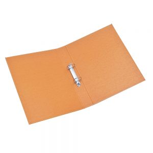 carpeta forrada a4 2x40 uo naranja