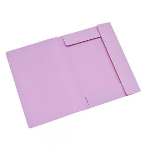 carpeta cartulina 3 solapas rosa oficio