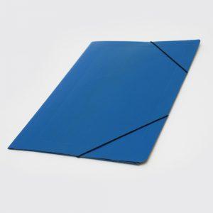 carpeta oficio 3 solapas con elastico uo azul