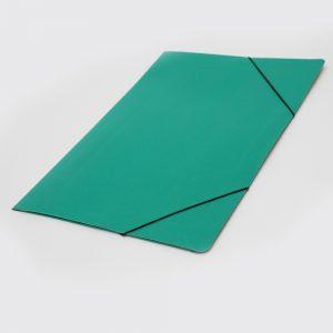carpeta oficio 3 solapas con elastico uo verde