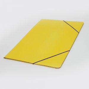 carpeta oficio 3 solapas con elastico uo amarilla