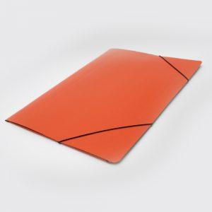 carpeta oficio 3 solapas con elastico uo naranja