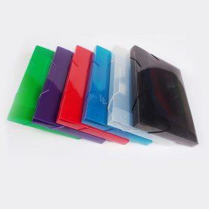 Caja Archivo Plastica 2.5 Cm Oficio Con Elastico The Pel 6082 humo