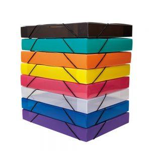 Caja Archivo Plastica lomo 4.5 Cm A4 con Elastico The Pel 6085 azul