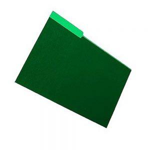 Carpeta Colgante Interior Cartulina Verde Noche 25 Unidades Nepaco