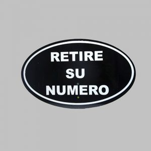 Cartel Retire Su turno Grande Liggo 800-0230