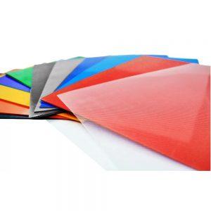 Tapa Para Encuadernacion Oficio Stripe 50 Unidades transparente