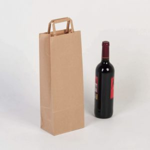 bolsa de papel kraft lisa para botella