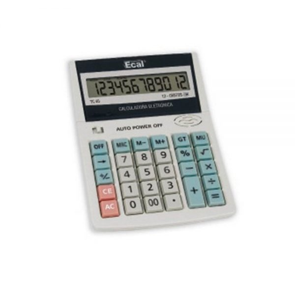 calculadora ecal tc40 12 digitos
