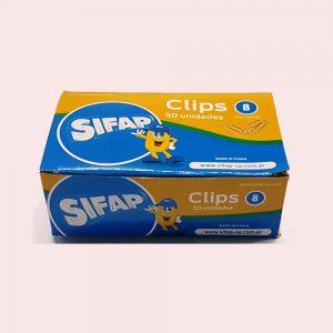 clips sifap nº8 metalicos caja 50 unidades
