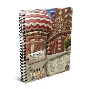 cuaderno mis apuntes travel a4 150 hojas cuadriculado