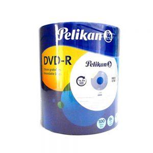 dvd pelikan bulk 8 x 4.7 100 unidades