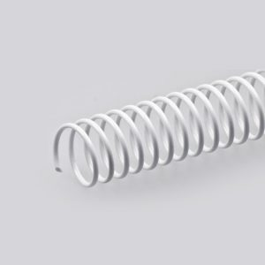 espiral pvc blanco 20 unidades 23 mm