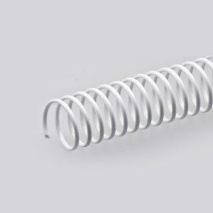 espiral pvc blanco 20 unidades 33 mm