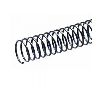 espiral pvc negro 20 unidades 25 mm