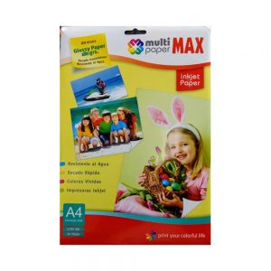 papel glossy multimax a4 180gr x 20