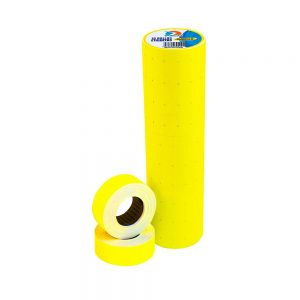 rollo para etiquetadora de precios amarillo x 10