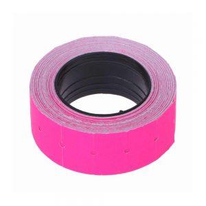 rollo etiquetadora de precios rosa x 10