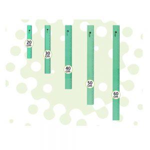 regla pizzini verde estudio 40cm acrilico