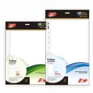 folios a4 x 10 premium reforzados 80 micrones