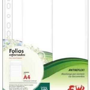 folios a4 x 100 40 mic antireflex